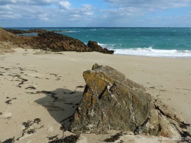 View across Belvoir Bay on Herm in the Channel Islands