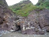 Cliffs of the Devonian Trabeg Conglomerate Formation on the Dingle Peninsula in Ireland