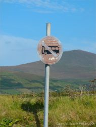 Old no parking sign on the west coast of Ireland