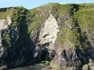 Cliffs with Silurian siltstones at Dunquin Harbour