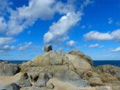 Rocky shore at Rousse Point