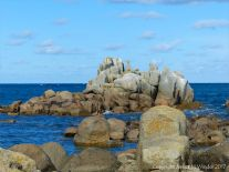 Rocky outcrop at Rousse Point