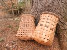 split rattan baskets