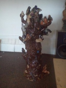 Song Bird Ceramic Tree Stump