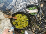 Cooked Summer Wild Edible Meal