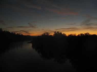 sunrise, morning, Fair Oaks, Fair Oaks Bridge, American River