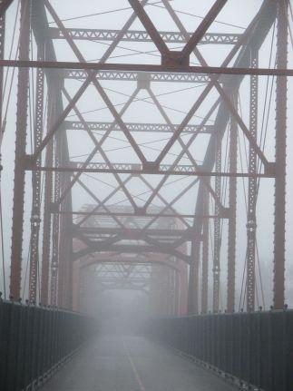 fog, morning, American River, Fair Oaks, Fair Oaks Bridge,