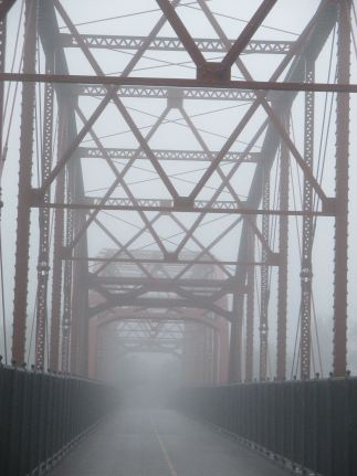 fog, morning, American River, Fair Oaks, Fair Oaks Bridge,