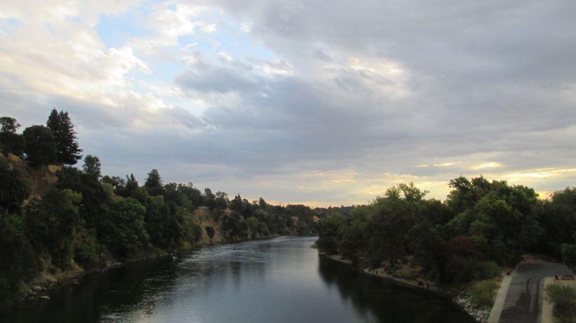 clouds, Fair Oaks Bridge, American River, mornings, rain, outdoors, nature, beauty, peace, Fair Oaks Bluff