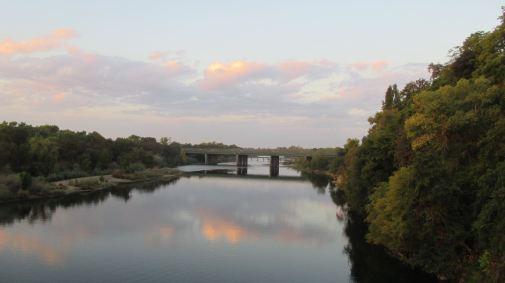 Fair Oaks Bridge, sunrise, mornings, American River, beauty, peace, clouds, rain, first rain, fall