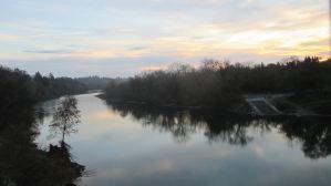 morning, sunrise, Fair Oaks Bridge, American River, water, nature, outdoors, observation, writing, nature journal, beauty, peace