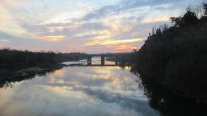 sunset, American River, water, nature, outdoors, spectacle, beauty, awesome, Fair Oaks Bridge
