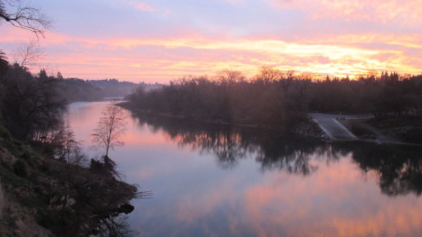 Fair Oaks Bridge, mornings, sunrise, American River, nature, observation, wrting, beauty,