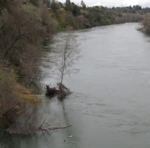 Fair Oaks, Fair Oaks Bridge, American River, flood, Folsom Dam, release water, Fair Oaks Bluff
