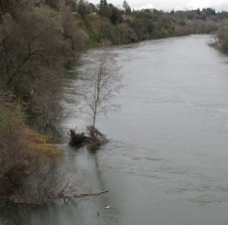 Fair Oaks, Fair Oaks Bridge, American River, flood, Folsom Dam, release water, Fair Oaks Bluff