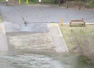 boat launch ramp, flood, American River, photos