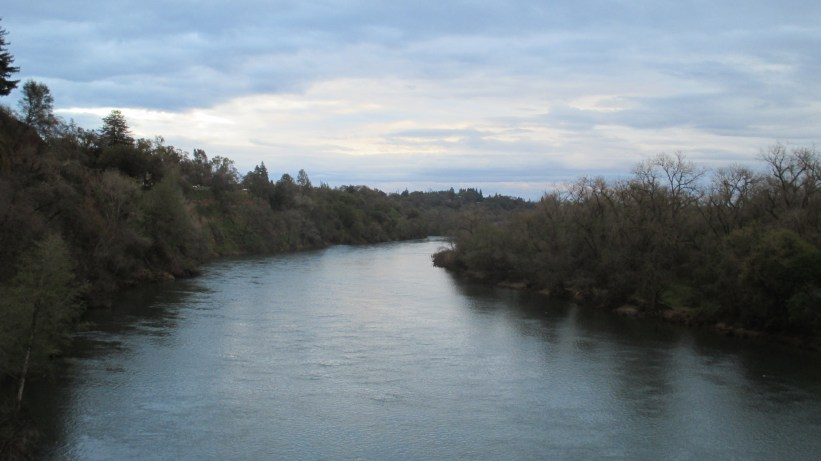 American River, Fair Oaks Bridge, mornings, water, nature, outdoors, writing, beauty, sunrise, clouds, mist