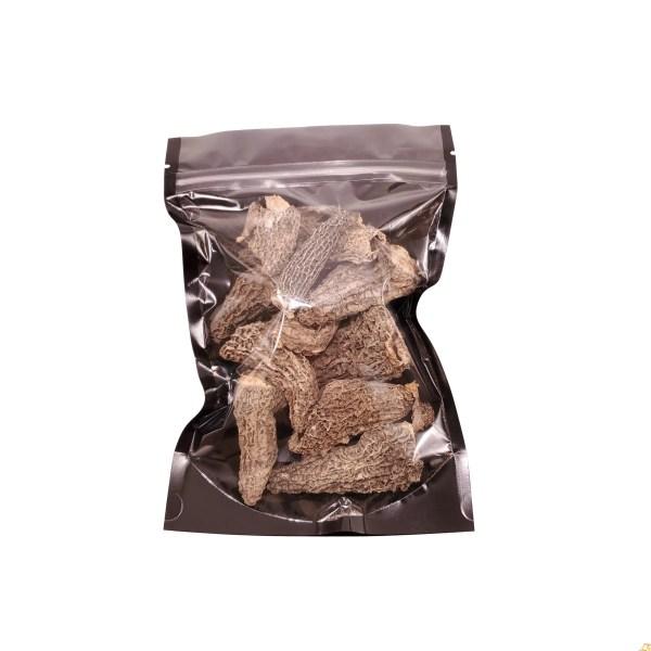 dried morels packaged