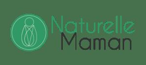 Logo avec un bébé enveloppé dans un lange en feuilles darbre