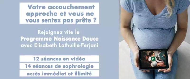 programme de préparation virtuelle à l'accouchement avec ELisabeth Lathuille-Ferjani, sage-femme de grande expérience.