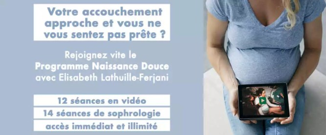 programme de préparation virtuel à la naissance avec la sage-femme Elisabeth Lathuille-Ferjani.