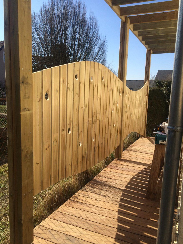 terrasse en bois et clôture réalisation sur mesure par Naturellement Bois - Essonne - 91 / Seine et Marne - 77