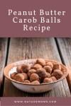 Peanut Butter Carob Balls Recipe