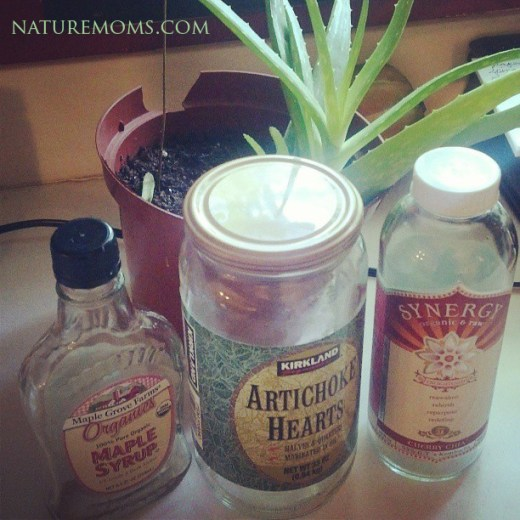 reusing glass bottles and jars