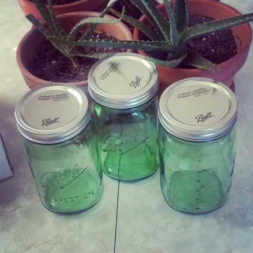 green ball jars (2)