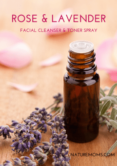 Rose and Lavender Facial Cleanser Toner Spray