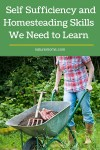 Self Sufficiency and Homesteading Skills We Need to Learn