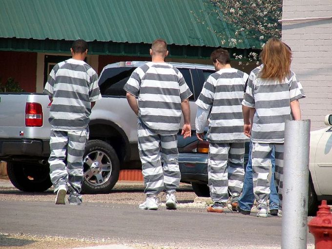 Modern chain gang, US, 2006