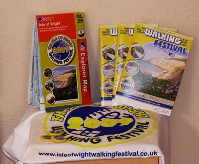 Isle of Wight Walking Festival goodies