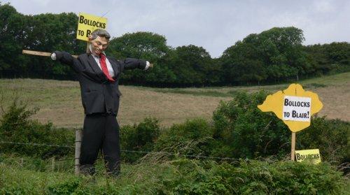 Tony Blair scarecrow