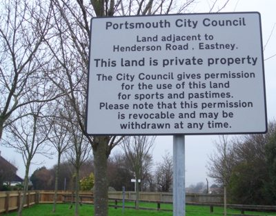 Sign at Eastney