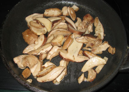 Fried boletes