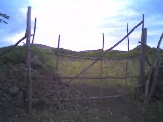 A gate on Easter Island (c) Richard Koehler