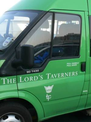 The Lord's Taverners minibus