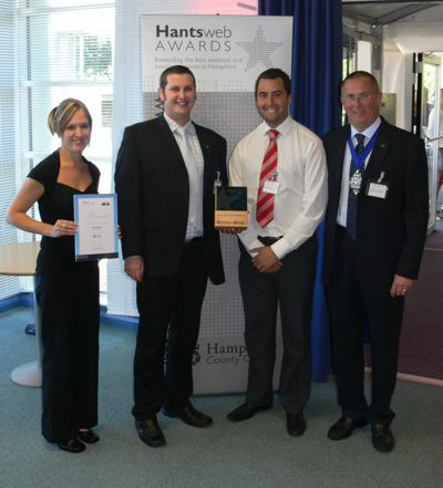 Iwight.com team at the Hantsweb Awards 2007