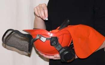 The Ranger's chainsaw helmet