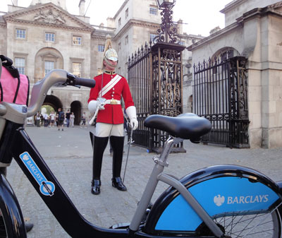 Horseguard or is it bikeguard's parade!