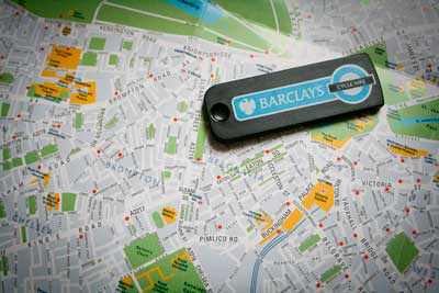 Barclay's Bike Hire map © William Hook