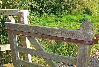 Gate in memory of Brian Evans