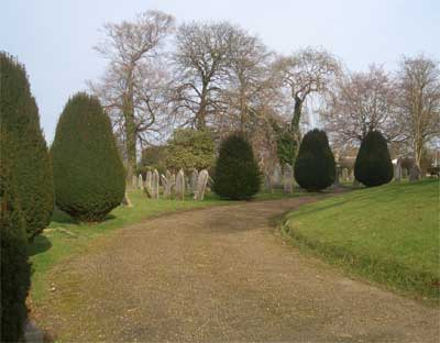 Path at Newport Cemetery