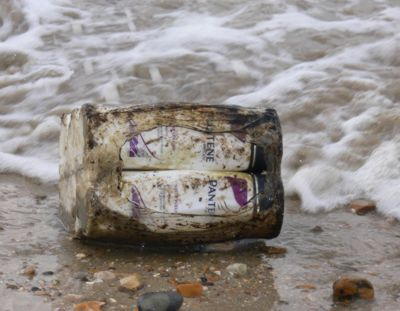 Pantene shampoo from the MSC Napoli washed up on the Isle of Wight