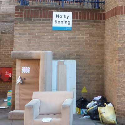 Rubbish at Perronet House, London © Simon Lee