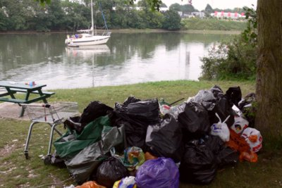 Rubbish after Isle of Wight Festival
