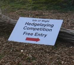 Hedgelaying competition sign
