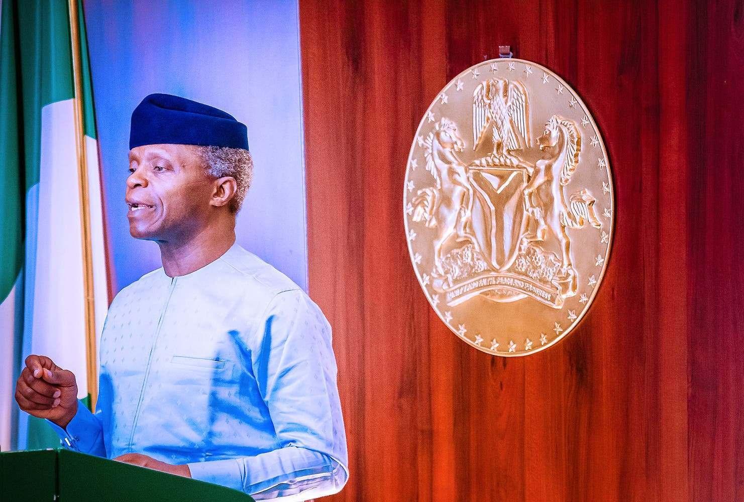 Infrastructural Deficit: Osinbajo reveals amount needed to bridge gap in Nigeria