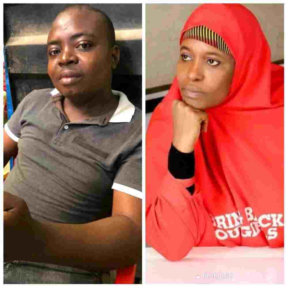 Aisha Yesufu reacts as her son opens his own full shop in Anambra State